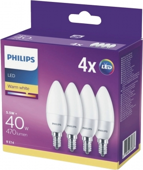 LED 40W B35 E14 WW FR ND 4CT/6  4-er Pack