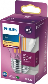 LED classic 60W E27 WW P45 CL ND SRT4